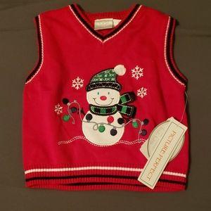9m Koala Baby Christmas sweater vest NWT
